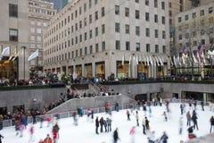 Mittelweihnachten New- York CityRockefeller Lizenzfreies Stockbild