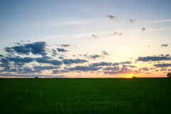 Mittelwesten-Frühlings-Sonnenuntergang Lizenzfreie Stockbilder