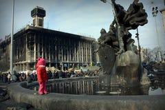 Mitten av Kiev. Arkivfoto