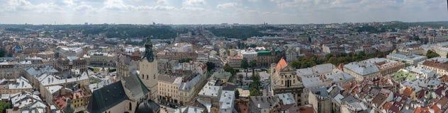 Mitten av Lviv Arkivfoto
