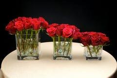 mitten blommar stycktabellbröllop Arkivfoton
