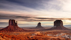 Mitten Buttes in Monument Valley Royalty Free Stock Photography