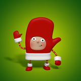 Mitten Christmas character Royalty Free Stock Image