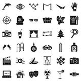 Mitten icons set, simple style Royalty Free Stock Image