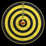 mitten kasta sig varicoloured mål tre Royaltyfri Bild