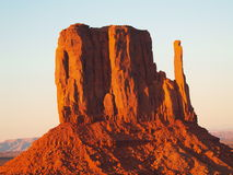 Mitten. One of the mittens in Monument Valley Navajo Tribal Park Stock Photos
