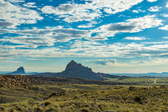 Mitten Rock from Red Rocks Highway Royalty Free Stock Images