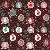 Mitten seamless pattern. Royalty Free Stock Photos