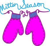Mitten Season Royalty Free Stock Photography