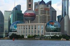 Mitten Shanghai för internationell konferens Arkivbilder