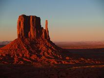 Mitten at Sunset. One of the mittens at sunset, Monument Valley Navajo Tribal Park Royalty Free Stock Photography