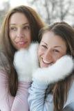 mittens 2 белых женщины Стоковое Фото