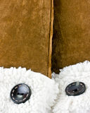 suede mittens Royalty Free Stock Photography