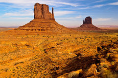 The Mittens. These iconic buttes in Arizona's Monument Valley are part of the Navajo Tribal Park Royalty Free Stock Images