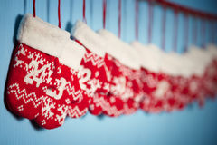 Mittens for Christmas gifts Stock Image