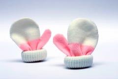 Mittens do bebê Imagem de Stock Royalty Free
