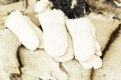 Mittens leather handmade Royalty Free Stock Photo