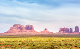 Mittens and Merrick Butte Monument Valley Park Royalty Free Stock Photos