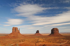 The Mittens and Merricks Butte - Monument Valley Stock Images
