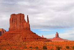 The Mittens in Monument Valley under a stormy sky Royalty Free Stock Photography