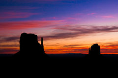 The Mittens at Sunrise stock image