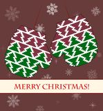 Mittens vector card Stock Images