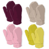 Mittens on white isolated Royalty Free Stock Photo