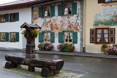 Mittenwald, house painting Stock Image