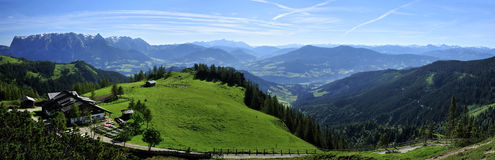 Mitterfeldalm & Tennengebirge obrazy stock