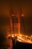 Mitternacht am Golden Gate Stockfotografie