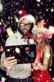 Mitternachts-selfie Stockfotografie