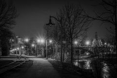 Mitternachtsspaziergang Stockfotografie