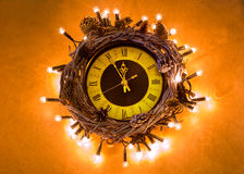 Mitternachtuhr des guten Rutsch ins Neue Jahr 2017 Stockfotos