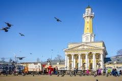 Mittfyrkant i Kostroma, Ryssland Arkivbild