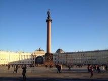 Mittfyrkant i St Petersburg Arkivbilder