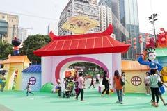 Mittler-Herbst Laternekarneval in Hong Kong stockfoto