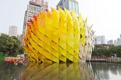 Mittler-Herbst Laternekarneval in Hong Kong stockbilder