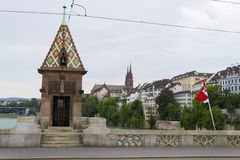 Mittlere brucke bridge, Basel Stock Image