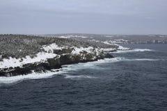 Mittlere Bucht-Winterküstenlinie, Avalon-Region Neufundland stockbild