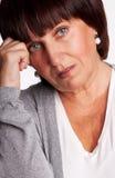 Mittlere Frau der Traurigkeit Lizenzfreie Stockbilder