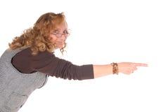 Mittlere gealterte Geschäftsfrau Stockfotografie