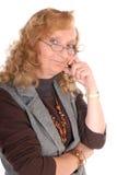 Mittlere gealterte Geschäftsfrau Lizenzfreie Stockfotografie