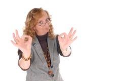 Mittlere gealterte Geschäftsfrau Stockfotos