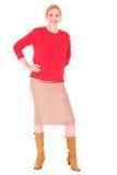 Mittlere gealterte Geschäftsfrau Lizenzfreies Stockfoto