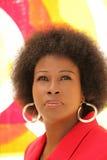 Mittlere gealterte schwarze Frau des im Freienportraits Stockbild