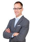 Mittlere gealterte tragende Gläser des Geschäftsmannes Lizenzfreie Stockfotografie