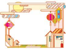 Mittlere Herbstfestival-Grafikdesignillustration Stockfoto