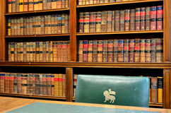 Mittlere Tempel-Bibliothek Stockfotos