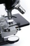 Mittlerer Abschnitt des Mikroskops Stockfotos