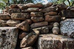 Mittlerer Ansicht-alter Stein kopierter Beschaffenheits-Hintergrund Lizenzfreie Stockbilder